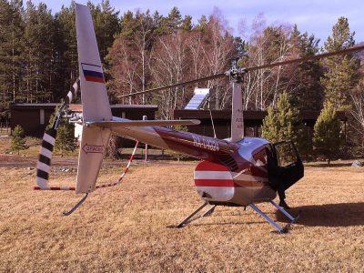 гости прилетели в клуб на вертолете