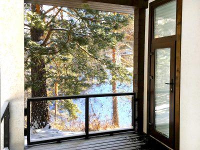 Вид с террасы гостевого дома